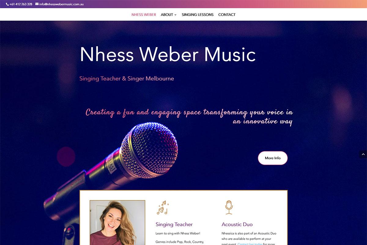 Latest Website – Nhess Weber Music